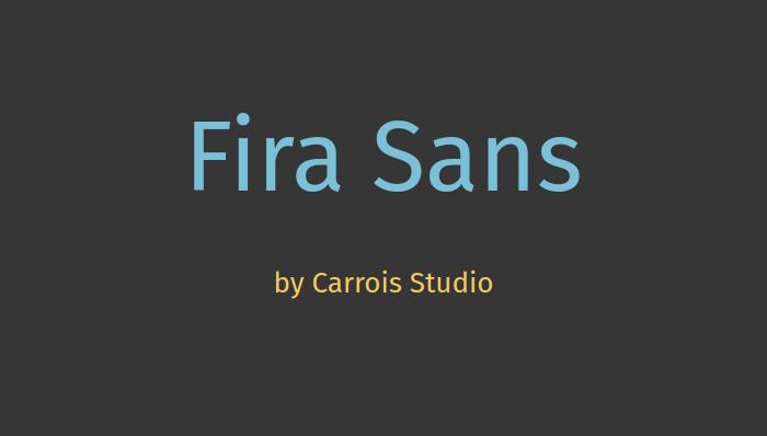 Fira Sans - download font for free at Fontstorage com
